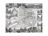 Map of Chiswick in the London Borough of Hounslow, 1736 Giclee Print by John Rocque