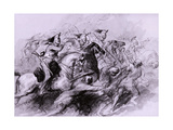 A Cavalry Charge, 1849 Giclee Print by John Gilbert