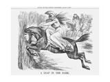 A Leap in the Dark, 1867 Giclee Print by John Tenniel