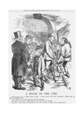 A Block on the Line, 1867 Giclee Print by John Tenniel