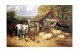 Farmyard Scene, (C1840-C1900) Giclee Print by John Frederick Herring II