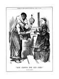 New Crowns for Old Ones!, Benjamin Disraeli Offering the Crown of India to Queen Victoria, 1876 Giclee Print by John Tenniel