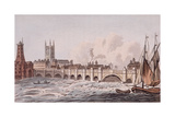 London Bridge, London, 1823 Giclee Print by John Hassall