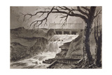 View of the The Outlet of the Serpentine, Hyde Park, London, 1818 Giclee Print by John Claude Nattes