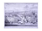 Birdseye View of Grand Junction Railway, London, C1835 Giclee Print by Joseph Bouvier