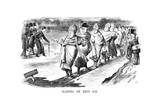 Sliding on Thin Ice, 1869 Giclee Print by John Tenniel