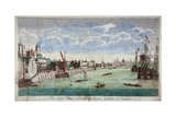View of the Tower of London with Boats on the River Thames, 1751 Wydruk giclee autor John Boydell