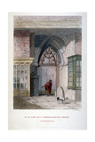 West Gate of the Old Priory of St Bartholomew-The-Great, Smithfield, City of London, 1851 Giclee Print by John Wykeham Archer