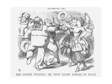 The Golden Wedding; Or, Fifty Years' Jubilee of Peace, 1865 Giclee Print by John Tenniel