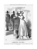 Committed for Trial, 1869 Giclee Print by John Tenniel
