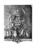 Interior of the House of Lords, Westminster, in 1742 Giclee Print by John Pine