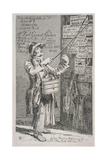 Billposter Sticking Bills Up on a Wall, 1815 Giclee Print by John Thomas Smith