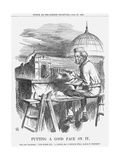 Putting a Good Face on It, 1863 Giclee Print by John Tenniel
