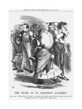 The Fight at St. Stephen's Academy, 1864 Giclee Print by John Tenniel