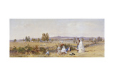 Fields at the Back of Holloway Prison, Islington, London, 1859 Giclee Print by John Absolon