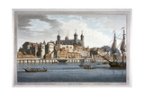 South View of the Tower of London with Boats on the River Thames, 1795 Giclee Print by Joseph Constantine Stadler