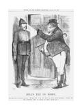Bull's Eye on Bobby, 1877 Giclee Print by John Tenniel