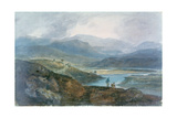 Lake, Scotland, 1801-1802 Stampa giclée di Joseph Mallord William Turner