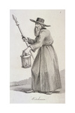 Watchman, (C1640), Cries of London, (C1819) Giclee Print by John Thomas Smith
