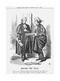Before the Trial, 1867 Giclee Print by John Tenniel