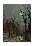By the Light of the Moon, 1882 Giclee Print by John Atkinson Grimshaw