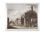 Fleet Street from St Dunstan in the West to Temple Bar, City of London, 1802 Giclee Print by Joseph Constantine Stadler