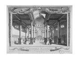 Interior View Looking East, Church of St Stephen Walbrook, City of London, 1750 Wydruk giclee autor John Boydell