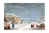 Square and the Grand Theatre at St Petersburg, 1817 Giclee Print by John Clark
