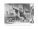 Scene from Old St Paul's by William Harrison Ainsworth, 1855 Giclee Print by John Franklin