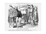 The Rival Con Jurors, 1869 Giclee Print by John Tenniel