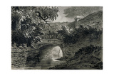 View of a Section of the Serpentine's Drainage System in Hyde Park, London, C1817 Giclee Print by John Claude Nattes