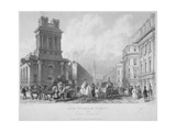 Church of St Mary Woolnoth, City of London, 1840 Giclee Print by John Woods