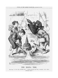 The Rising Tide, 1868 Giclee Print by John Tenniel