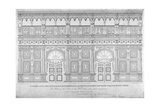 Elizabethan Oak Screen, Middle Temple Hall, City of London, 1828 Giclee Print by John Turner