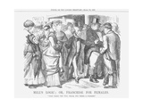 Mills Logic; Or, Franchise for Females, 1867 Giclee Print by John Tenniel