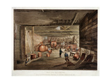 Shoe Lane, London, C1806 Giclee Print by John Claude Nattes