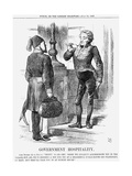 Government Hospitality, 1867 Giclee Print by John Tenniel
