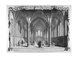 Interior View of Temple Church, City of London, 1750 Wydruk giclee autor John Boydell