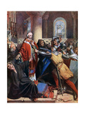 Death of Becket, 1170 Giclee Print by John Cross
