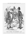 Cave Canem, or Dog (Berr) Law, 1867 Giclee Print by John Tenniel