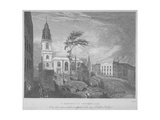 South-East View of the Church of St Michael, Crooked Lane, City of London, 1830 Giclee Print by John Wells
