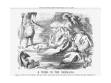 A Word to the Mermaids, 1865 Giclee Print by John Tenniel