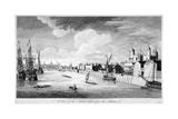 View of the Tower of London with Boats and Passengers on the River Thames, 1751 Wydruk giclee autor John Boydell