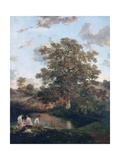 The Poringland Oak, C1818-1820 Giclee Print by John Crome