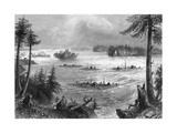 The Junction of the Ottawa and St Lawrence Rivers, Canada, 1842 Giclee Print by John Cousen