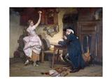 Flirtation, 1885 Giclee Print by John Francis Rigaud