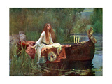 La signora di Shalott, 1888 Stampa giclée di John William Waterhouse
