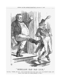 Rebellion Had Bad Luck, 1865 Giclee Print by John Tenniel
