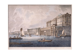Somerset House, London, 1791 Giclee Print by Joseph Constantine Stadler