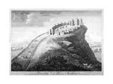 Beeston Castle in Cheshire, 1747 Wydruk giclee autor John Boydell